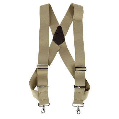 Men's Elastic Side Clip Metal Swivel Hook Trucker Suspenders