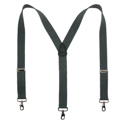 Men's Big & Tall Elastic Solid Color Y-Back Suspender with Swivel Hook Ends