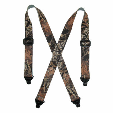 Men's Elastic TSA Compliant Camouflage Suspenders (Tall Available)