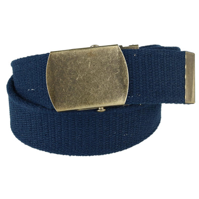 Cotton Web 1.5 Inch Adjustable Military Buckle Belt