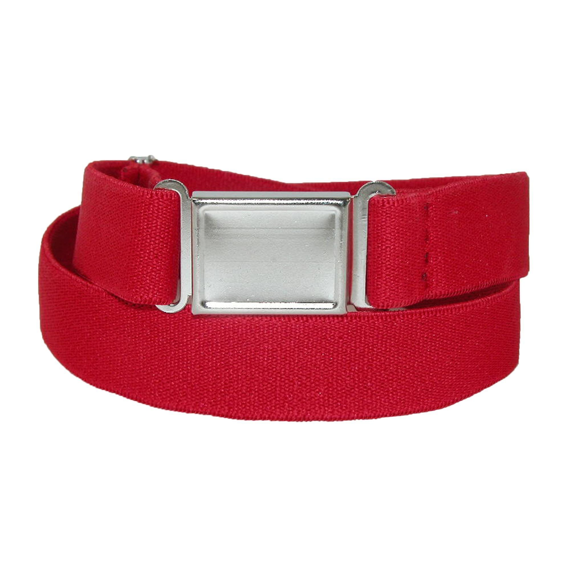 CTM® Elastic Belt with Magnetic No Show Flat Buckle