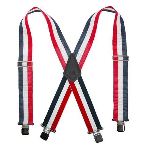 Men's 2 Inch Wide Non-Elasticized Construction Clip-End Suspenders