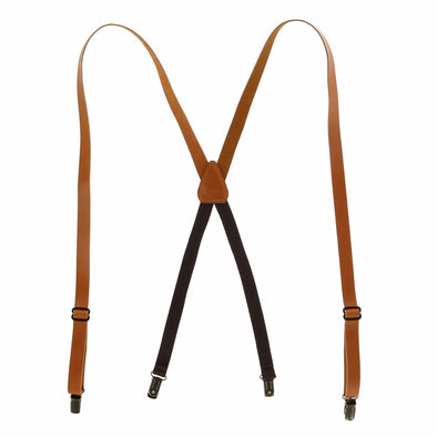 Coated Leather Clip-End 3/4 Inch Suspenders