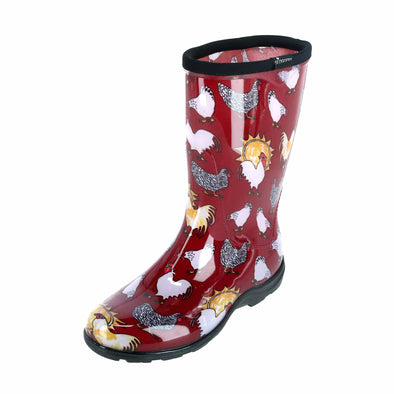 Women's Chicken Print Rain Boot