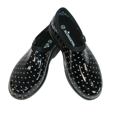 Women's Polka Dot Print Short Rain Shoes