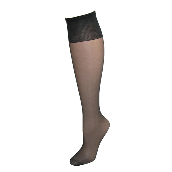 Women's Plus Size Nylon Sheer Knee High Socks (Pack of 4)