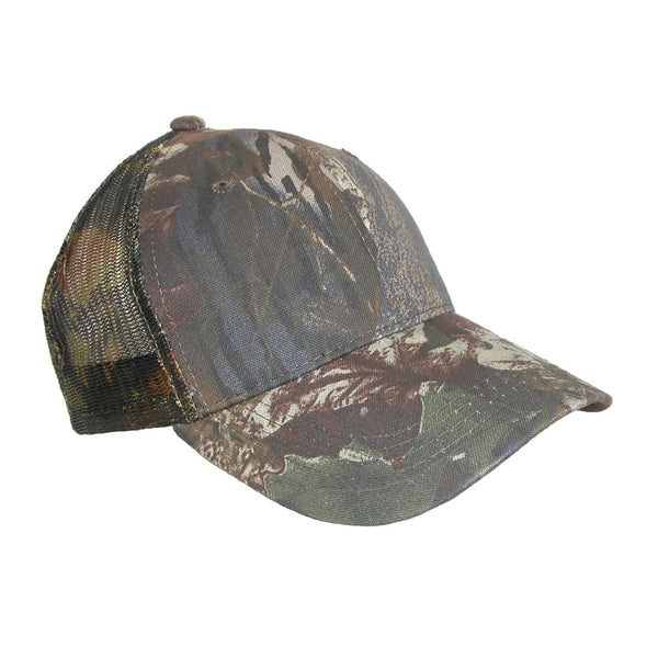 Men's Cotton Camo Breathable Mesh Trucker Baseball Hat