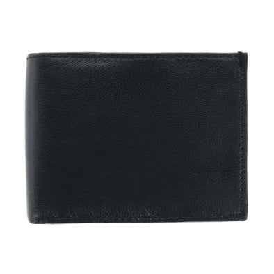 Men's Leather Bifold Wallet with Double Interior Flaps