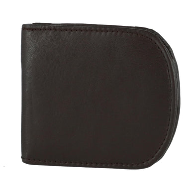 Men's Leather Front Pocket C-Fold Taxi Wallet