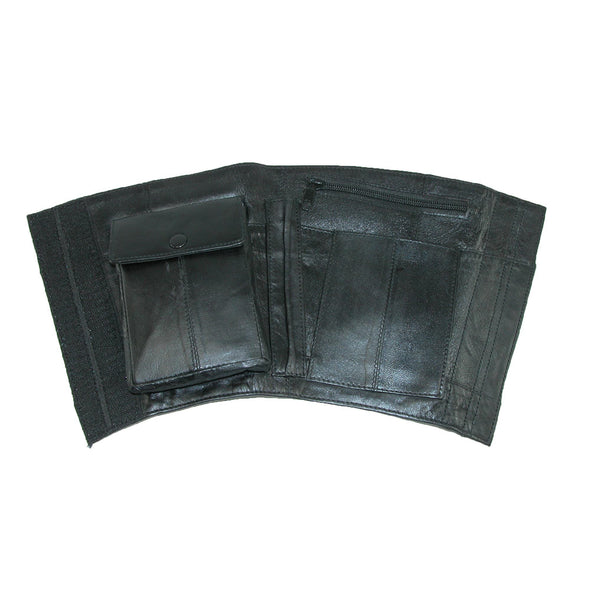 Leather Travel Security Ankle Wallet