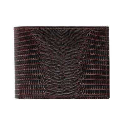 Men's Faux Snake Print Bifold Wallet with Flip Up Passcase