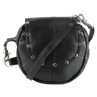 Leather Studded Biker Belt Waistpack