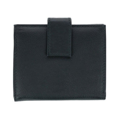 Men's Leather Bifold Wallet with Snap Closure