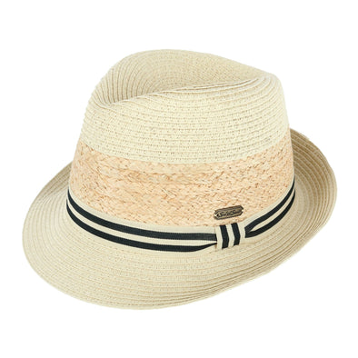 Women's Packable Fedora Hat with Striped Hatband