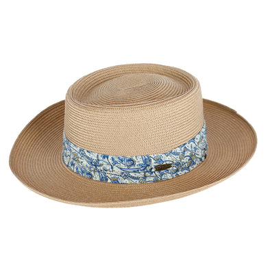 Men's UPF 50+ Gambler Hat with Paisley Print Hatband