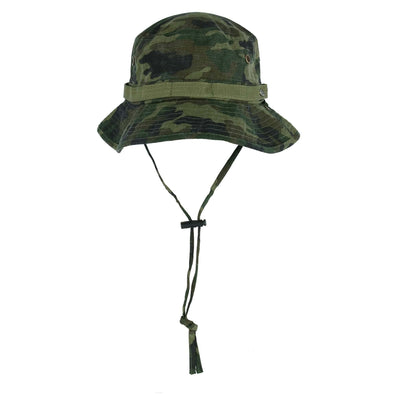 Men's UPF 50+ Camo Print Bucket Hat with Chin Cord
