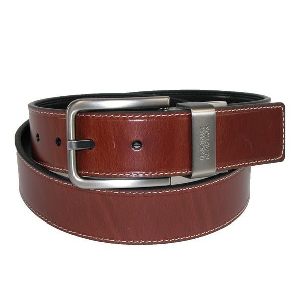 Men's Oil Tanned Leather Reversible Belt