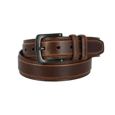 Men's Leather Double Loop Padded Belt