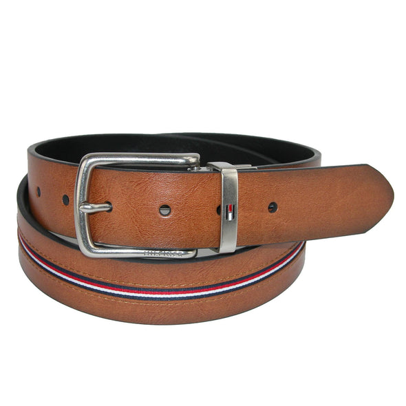 Men's Reversible Jean Belt with Ribbon Inlay