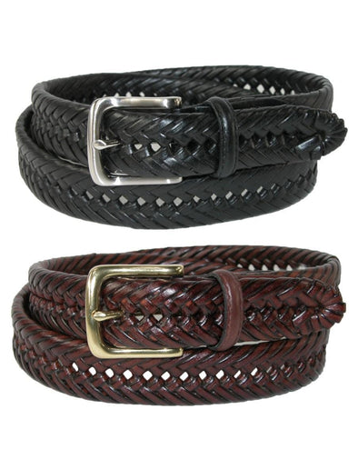 Men's Burnished Handlaced Braided Belt (Pack of 2)