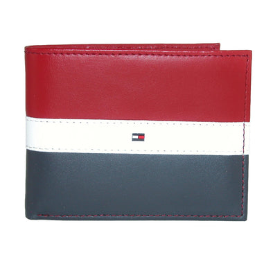 Men's Leather Americana Stripe Bifold Wallet