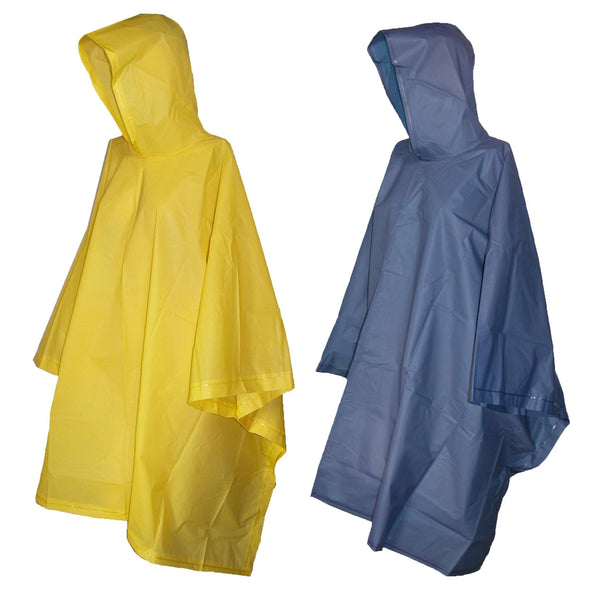 Rain Poncho with Hood (Pack of 2)