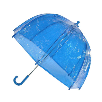Kids' Vinyl Pinch-Proof Clear Bubble Umbrella