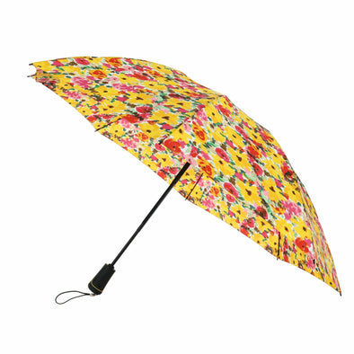 Women's Reversible Auto Open and Close Floral SunGaurd Compact Umbrella
