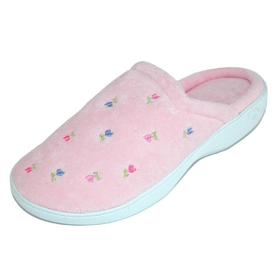 Women's Extra Small Terry Embroidered Clog Slippers