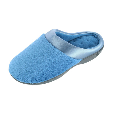 Women's Microterry Pillowstep Satin Clog Slipper