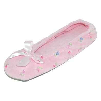Women's Embroidered Terry Ballerina Slippers