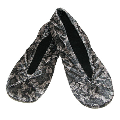 Women's Satin Lace Detail Ballerina Slippers