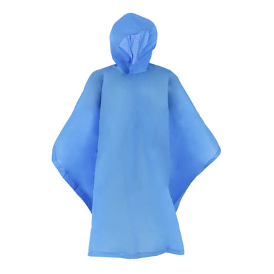 Kids' Hooded Pullover Rain Poncho with Snaps