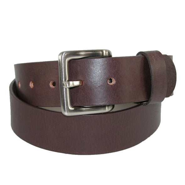 Men's Leather Bridle Belt with Removable Buckle