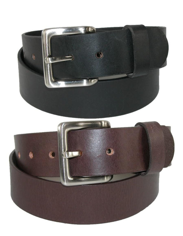 Men's Leather Bridle Belt with Removable Buckle (Pack of 2)