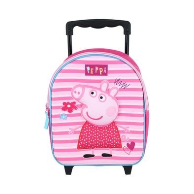 Nickelodeon Kids' Peppa Pig Rolling Backpack Luggage