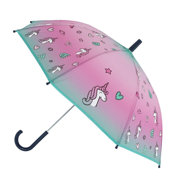 Kid's Unicorn Print Stick Umbrella