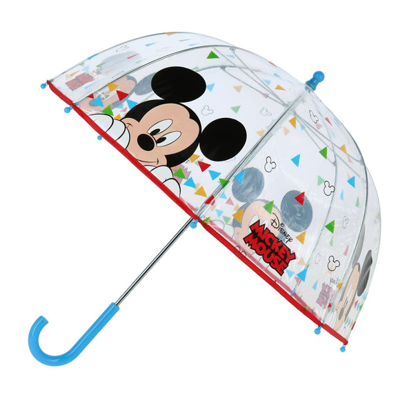 Disney Kid's Mickey Mouse Transparent Bubble Stick Umbrella