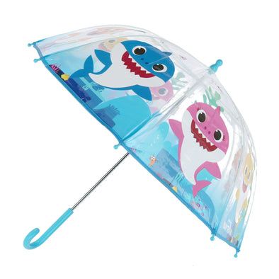Kid's Pinkfong Baby Shark Transparent Bubble Stick Umbrella
