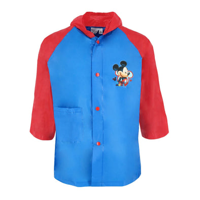 Kid's Mickey Mouse Color Block Rain Coat