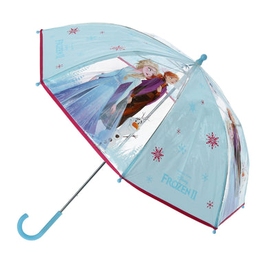 Disney Kid's Frozen II Elsa and Anna Transparent Stick Umbrella