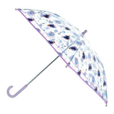 Kid's Disney Frozen Elsa and Anna Transparent Stick Umbrella