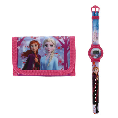Kid's Disney Frozen II Wallet and Watch Set