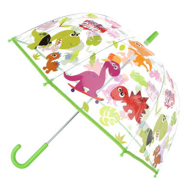 Kid's Dinosaur Print Transparent Bubble Stick Umbrella