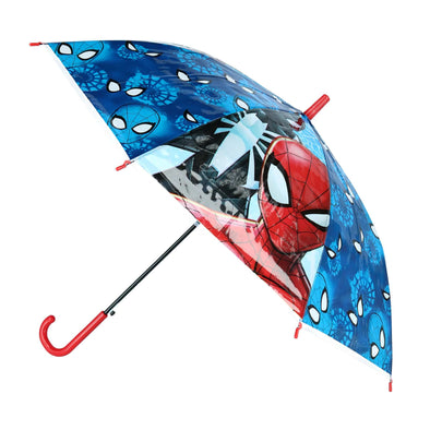 Kid's Marvel Spiderman Transparent Stick Umbrella