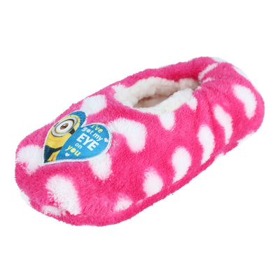 Girl's Despicable Me Minions Heart Slippers