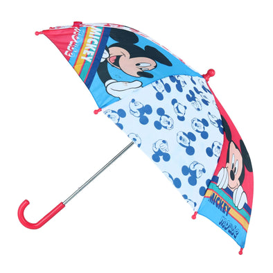 Kid's Disney Multi-Mickey Face Stick Umbrella