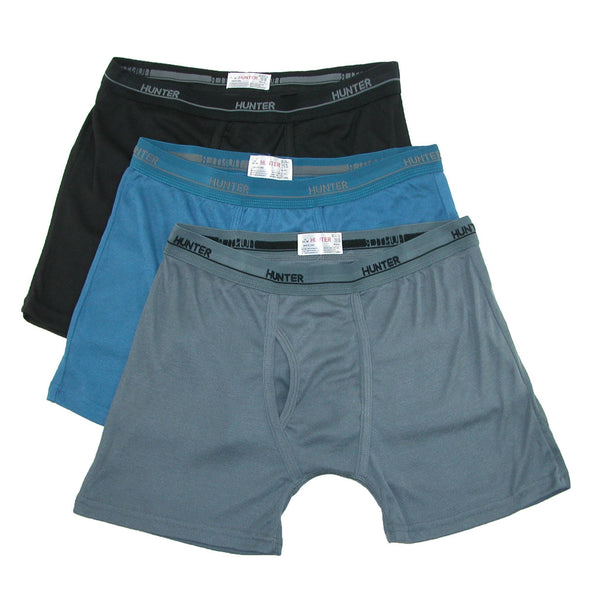 Men's Big and Tall Boxer Brief Underwear (3 Pair Pack)