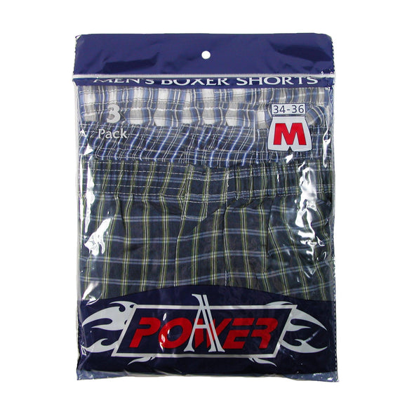 Men's Madras Plaid Boxer Shorts Underwear (Pack of 3)