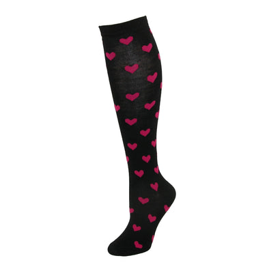 Women's Heart Print Knee High Socks